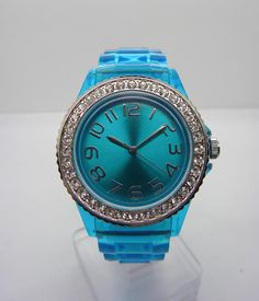 Silicone watch with dimonds