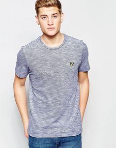 Imagen 1 de Camiseta de punto devoré de Lyle & Scott