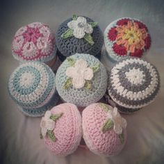 Crocheted ear muffs