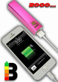 Pink Solar Powered iphone 5 charger  need this cause I always forget to charge mine