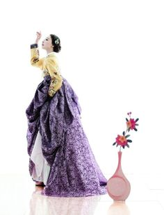 Yellow and Purple Hanbok