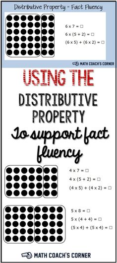 Using a strategy-based approach for learning facts helps students make sense of math. Math Fact Fluency, Math Multiplication, Math Skills, Math Lessons, Math Properties, Multiplication Properties, 3rd Grade Math, Grade 3, Third Grade