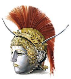 Chatalka face-mask helmet Ancient Armor, Medieval Armor, Roman Helmet, Battle Belt, Greek Pantheon, Anime Ninja, Roman Legion, Roman Era, Ancient Romans