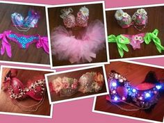 Burner girls, go go dancers, rave babes & club kids! You CAN make these easy. Hot glue gun + fake flowers & jewels + our cheap/colorful/brilliant LEDs = BEST DRESSED hands down: http://www.flashingblinkylights.com/blinkiesroundleds-c-114_61_1.html