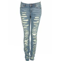 Bleach Ripped Skinny Jeans ($90) ❤ liked on Polyvore featuring jeans, pants, bottoms, pantalones, meadow, skinnycollections, ripped skinny jeans, skinny jeans, destructed jeans and bleached ripped skinny jeans