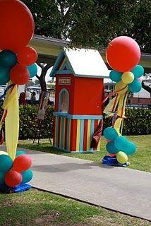 Over-The-Top Carnival Birthday! - Design Dazzle : Over-The-Top Carnival Birthday! Circus Carnival Party, Carnival Birthday Parties, Circus Birthday, First Birthday Parties, Birthday Party Themes, Birthday Ideas, Birthday Venues, Kids Carnival, Carnival Food