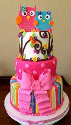 Idea para pastel de cumpleaños de niña.