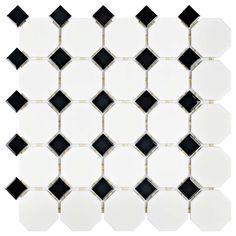 Visit The Home Depot to buy Merola Tile Metro Octagon Matte White with Cobalt Dot in. Porcelain Mosaic Floor and Wall Tile FXLMOWCB Mosaic Tiles, Wall Tiles, Tiling, Best Floor Tiles, Retro 11, Stone Tiles, Blue Accents, The Fresh, Blue And White