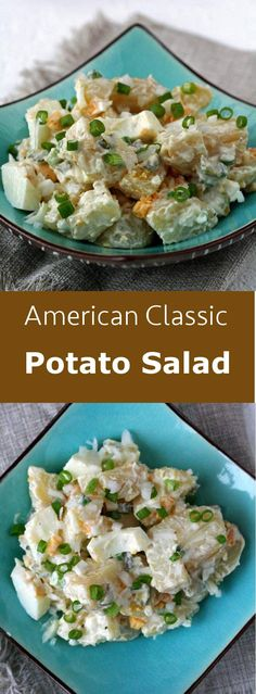 Potato salad is a classic side dish with a multitude of variants that everyone can thus customize their way. #vegetarian #salad #glutenfree #bbq #american #unitedstates