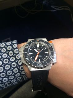 Omega Ploprof with a black rubber strap. Brand new and feels awesome. What a great piece of kit!! Available to buy from miltonsdiamonds.com #omega #dailywatch