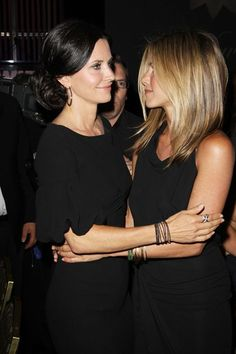 Jen Anniston and Courtney Cox