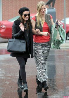 Lea Michele + Heather Morris.