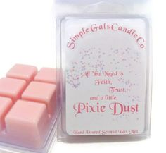 Hey, I found this really awesome Etsy listing at https://www.etsy.com/listing/217886190/pixie-dust-scented-wax-tart-disney
