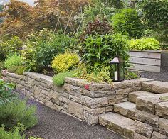 You can give your small backyard a sene of height by raising up plantings, even just a foot or two. Try retaining walls or more formal raised beds integrated with other hardscape features, such as stairs. You'll help the eye move up and create a pretty visual distraction from the lack of square footage.