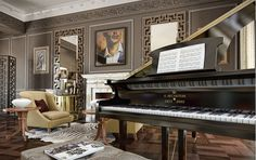 Ah, a Bechstein- my favorite piano. Luxury Interior, Modern Interior Design, Interior Design Inspiration, Home Building Design, Building A House, Townhouse Interior, London Townhouse, Home Living Room, Living Spaces