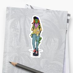 Weird alien and stuffs in skateboard while eating a hotdog. Cool Stickers, Sell Your Art, Sticker Design, Skateboard, Weird, Finding Yourself, Artists, Cool Stuff, Unique