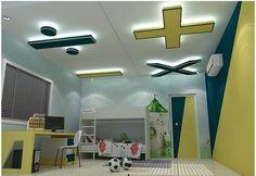 simple Plaster of paris false ceiling for school age kids room
