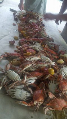 Seafood Blue Crab boil---OMG...that's my picture! Great food in South Louisiana!