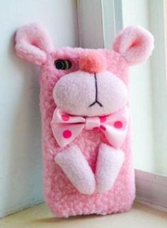 New Cute Handmade Plush Pink Panther iPhone Case,  Accessory, bling  crystal  rhinestones  iphone 5 case, Chic