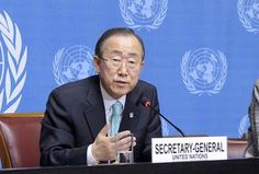 Secretary-General Ban Ki-moon is the Chief of the United Nations and has called on Syria to adhere to a cease fire to be in effect on April 12, 2012