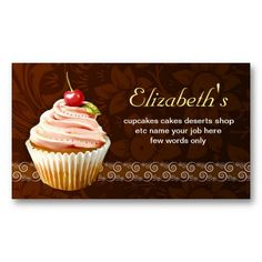 16 best cupcake shaped business cards images on pinterest bakery cherry cupcake sweet cute business card colourmoves