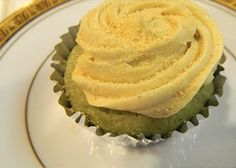 Green tea cupcakes. Amazingly delicious. There's not too much sugar but I still feel guilty for eating like 5 in the last two days.