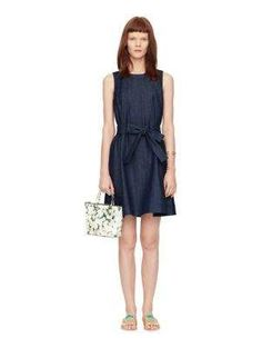 denim fit and flare dress - Kate Spade New York