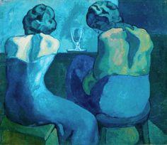 Pablo Picasso (1902) Twee vrouwen in een bar / Les Pierreuses