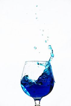 deep blue drop by pqphotography