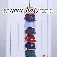 CapRack 36 Baseball Hat Holder Organizer Storage Hook Closet Wall Door Cap  Rack
