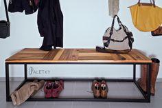bench from pallets + iron base  / lavice z palet + železná podnož