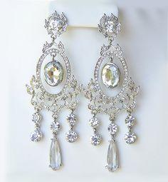 Wedding earrings Crystal chandelier earrings by annasinclair, $88.00