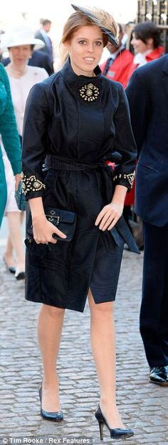 Mail Online:  Princess Beatrice arrives at the Westminster Abbey service to commemorate the 60th Anniversary of the Coronation of Queen Elizabeth II