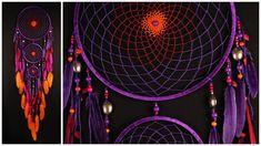 Violet Dream Catcher grand Dreamcatcher coucher de soleil Dream сatcher capteurs de rêves boho dreamcatchers mur présent violet pour décor cadeau d'anniversaire  par exemple, les temps de production 4-5 jours *******************************************     Cette amulette comme
