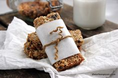"I miss my granola... The Urban Poser: Chewy Grain Free ""Granola"" Bars: Sweet Coconut Curry. -- Maybe skip the curry powder if the kiddos are not a fan?"