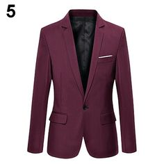 Men Slim Blazer Formal Suit One Button Lapel Long Sleeve Pockets Top | $ 21.08 | Item is FREE Shipping Worldwide! | Damialeon | Check out our website www.damialeon.com for the latest SS17 collections at the lowest prices than the high street | FREE Shipping Worldwide for all items! | Get it here http://www.damialeon.com/hot-item-mens-slim-blazer-formal-business-suit-one-button-lapel-long-sleeve-pockets-top/ |      #damialeon #latest #trending #fashion #instadaily #dress #sunglasses #blouse…