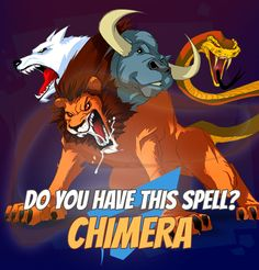 "SPELLS GALLERY: CHIMERA An angry chimera roars and growls with all her heads. A human ear cannot stand that much noise. The pain is so great that victims rarely resist in a futile attempt to close the ears. ""Encyclopedia Naturae, ed. 3 (revised), volume 2"" #game #rpg #fantasy #dragons #mages #magic #spells #warlock App Store / iOS: https://itunes.apple.com/app/war-of-warlocks/id799551713?mt=8 Google Play / Android…"
