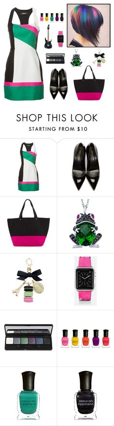 """""""Five colours in her hair"""" by molly2222 ❤ liked on Polyvore featuring Dsquared2, Yves Saint Laurent, Neiman Marcus, Lab, Ladurée, Casetify, Deborah Lippmann and songlyrics"""