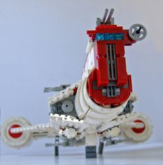 The Republic Frigate. A Consular class ship converted for use in the Clone Wars. Awesome Lego, Cool Lego, Lego Lego, Legos, Lego Star Wars, Star Trek, Lego Ship, Lego Design, Space Ship