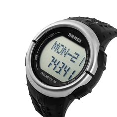 Feature: Alarm; Feature: Back Light; Feature: Chronograph; Feature: Complete Calendar; Feature: Heart Rate Monitor; Feature: LED display; Feature: Stop Watch; Feature: Water Resistant; Gender: Men; Style: Sport; Movement: Digital; shell material: Resin; Box Material: No package; Watch Window Material: Resin; Old / New Condition: New with tags; Dial Material: Stainless Steel; Display mode: Digital; Dial Diameter: 36MM; Case Shape: Round; Band Material Type: Rubber; Band Width: 20mm to 29mm…