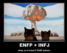 How the ENFP and INFJ attract to each other, having a lasting connection, are an explosion of insanity, Myers Briggs.