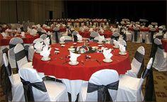 Red and Black Wedding Centerpieces   Wedding Reception Decorations   Decorations   Fabrics   Wedding ...