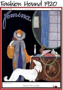 Art Deco Dog Vintage Borzoi Russian Wolfhound      www.interiordesignhound.com
