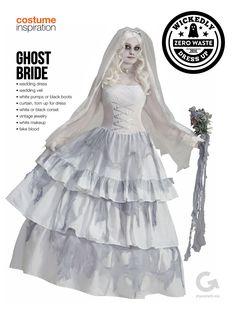 SF Goodwill DIY Halloween Costume Inspiration - Ghost Bride #Halloween #Costume #Ghost #Bride