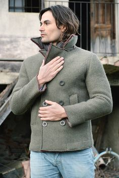 Lost In Albion Art CHESTER Wool Peacoat