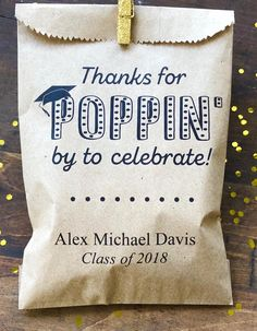 Items similar to Graduation Favor Bags, Candy Buffet Bag, Cookie Bar, Custom Treat Bags, Personalized Graduation Party Bags on Etsy Grad Party Favors, Graduation Party Foods, Graduation Party Planning, College Graduation Parties, Grad Parties, Graduation Diy, Party Bags, Wedding Favors, Graduation Stickers