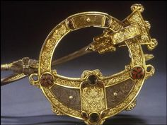 A Tara brooch - dated to the 8th century - worn by the kings and nobility of Ireland.