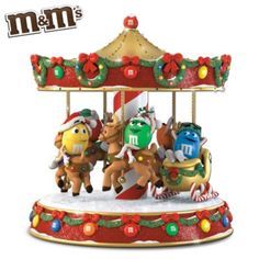 M'S Characters Holiday Musical Carousel LOVE THIS +++