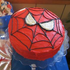 spiderman birthday cakes | Spiderman Birthday Party ~ Part 3 ~ Cake and Cookies! | Tidbit Times