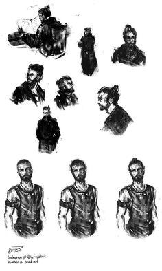 Auror Potter Sketches #1 by blvnk-art.deviantart.com on @DeviantArt